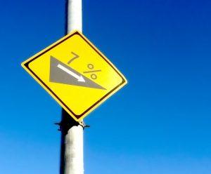 勾配の標識