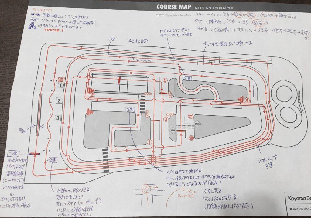 コヤマドライビングスクール横浜校(旧:綱島校)コース図