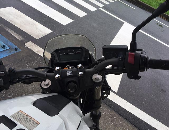 NC750のハンドル