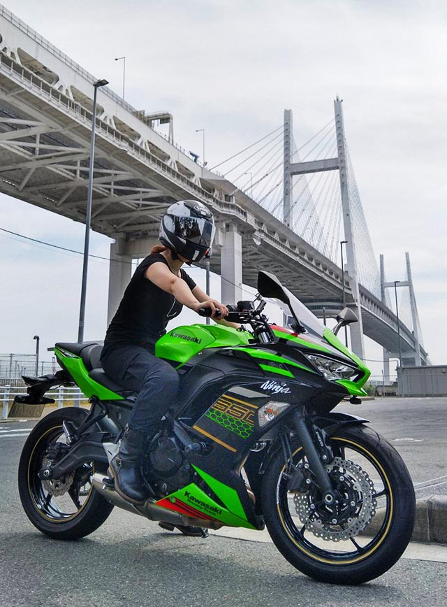 Ninja-650-KRT-EDITIONと一緒